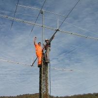 2 elementos carga lineal 7 mhz